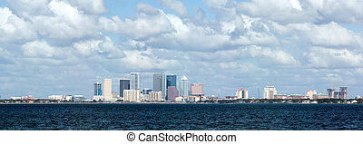 Tampa Skyline Bay View - Tampa Florida skyline viewed from...