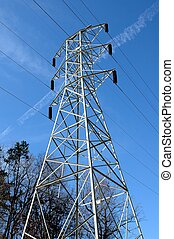 Electric Pylons - Photographed electric pylons in Georgia.