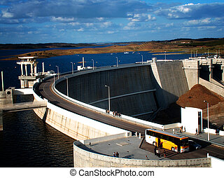 Alqueva Dam - One of the biggest dams and the biggest...