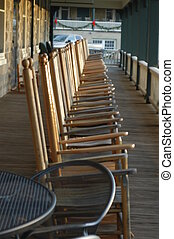 On the porch - Rocking chairs on the porch