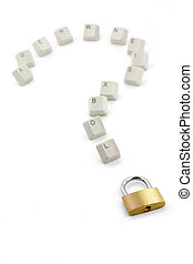 keys and question mark - keys, lock and question mark,...