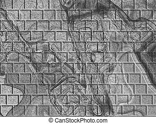 Gray Textured Bricks - An abstract picture showing gray...
