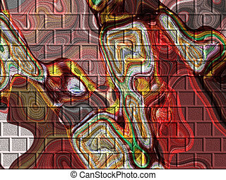 Colorful Abstract  - Colorful abstract bricks