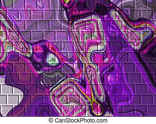 Lavender Patterns - Lavender ,blue and pink colored bricks.