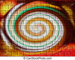 Abstract Swirl - Texture of bricks showing colorful abstract...