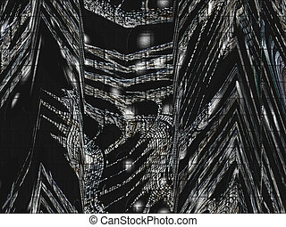 Black Gray Matrix - A complex web like matrix showing black...