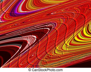 Red Abstract Curves - Red and orange abstract curves.