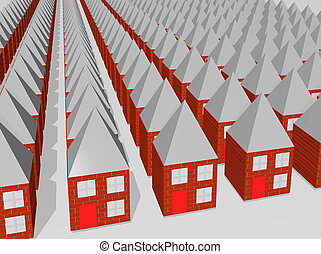 Houses - Rows and rows of houses all the same