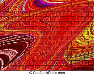 Red Pattern - Dark red abstract pattern