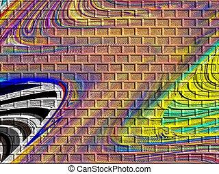 Abstract Bricks - Multicolored abstract bricks.