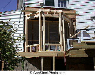 Framing a Bay Window - Bay window under construction