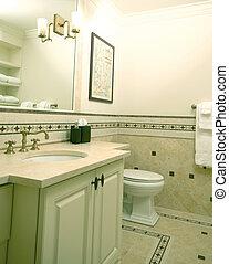 costume, banheiro, azulejo, trabalho