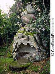 bomarzo - monsters in bomarzo, italy