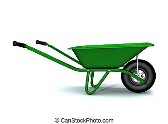 Wheelbarrow - A 3D render