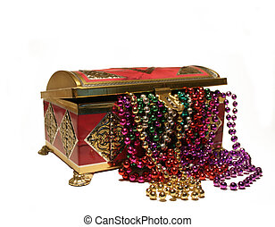 Treasure Chest - A treasure chest filled with colorful beads