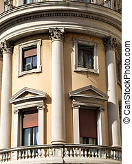 Rounded building with balcony - Beautiful building in Rome....
