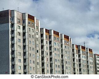 Old apartment blocks