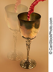 Wine Goblet - a wine goblet with reflection in the...