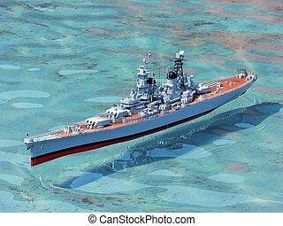 modèle, Navire guerre, 2058