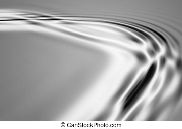 Silver waves - Colorful 3D rendered wave pattern (abstract...