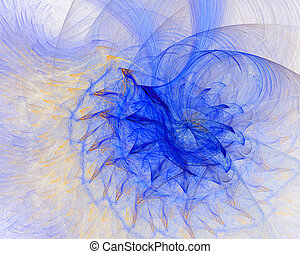 Fractal abstract - colored flower