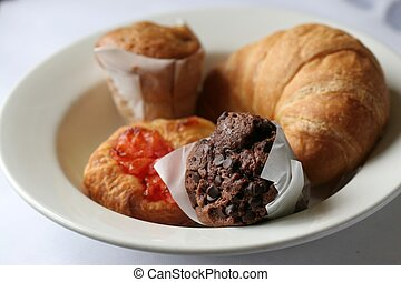 Pastries on Plate