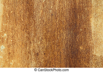 Rusty metal plate - A close-up of a rusty metal plate