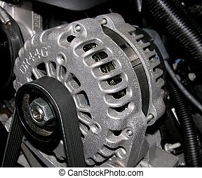 An Alternator used to power the electrical system on an...