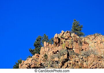 Ridgeline Pines - Pines dot the top of the granite ridgeline...