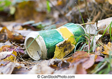 Soda Can thrown out on the ground