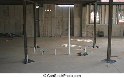 Basement Construction - Basement and support construction at...