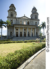 managua nicaragua cathedral - cathedral of santo domingo...