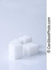 sugar cubes white blue