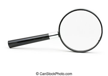 magnifier - A black magnifying glass with white background