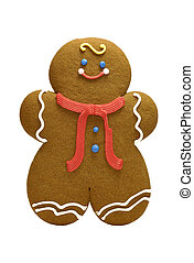 Gingerbread Cookie - Isolated Gingerbread Cookie - Holiday...