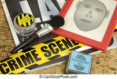 Crime Lab - Crime Scene Related Objects - Crime Lab Concept