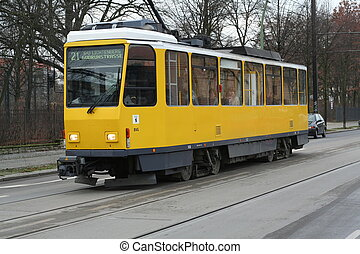 yellow urban train - This tran, is the yellow train from the...