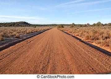 Paria road - Dirt road to Paria, Utah, a Mormon ghost town