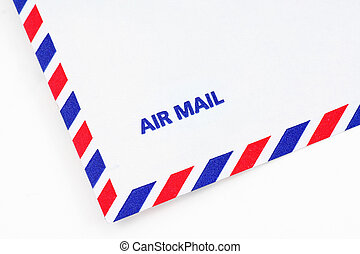 airmail envelope, close up