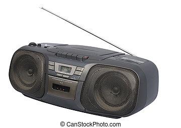 Black Boom Box - Portable Stereo CD Radio Cassette Recorder;...