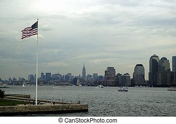 NY Skyline - New York Skyline on a overcast summer day
