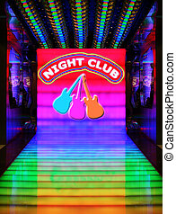 Night club - Night Club and three guitars are my own...