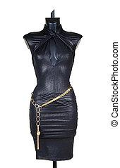 celebratory dress - Celebratory dress with a gold belt on a...