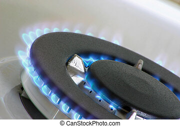gas burner for a large pan or wok
