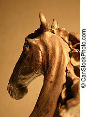 horse sculpture in clay