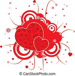 gothic red heart - A abstract gothic heart design in red and...