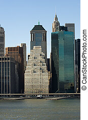 Corporate America - Famous financial buildings in Lower...