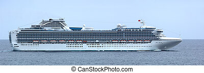 Luxury Cruise Ship Panorama - This is a panorama lots of...