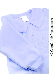 baby sleeper - little baby boys warm blue fleece sleeper
