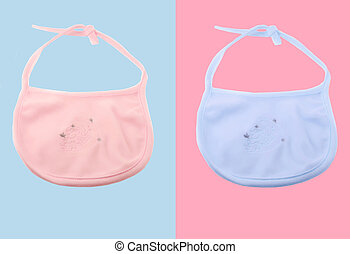 baby bib - pink and blue fleecy baby bib for boys and girls